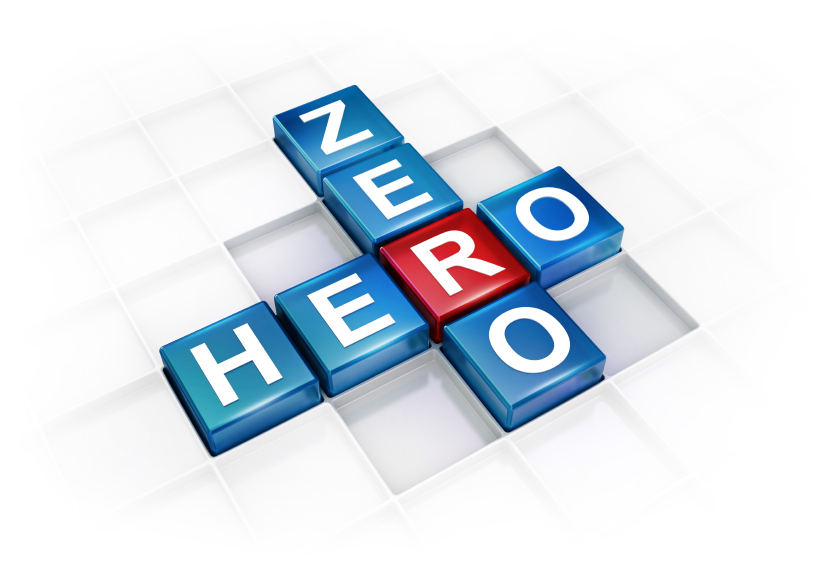 from zero to hero To change an outcome, one's situation, or oneself from being particularly unsuccessful, negative, unfortunate, or unpopular to being especially successful, positive.