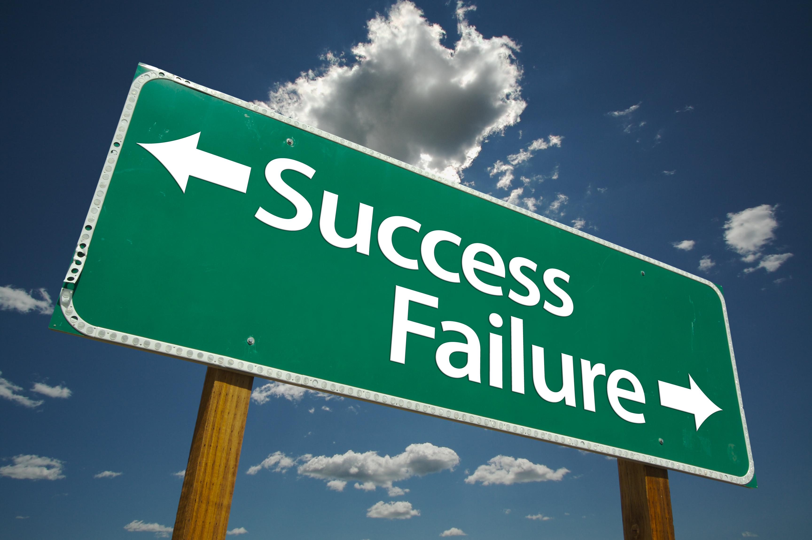 failure and success Find the confidence you need to attain the lasting success you desire sonia thompson april 27, 2018  failure why you shouldn't be afraid of making mistakes.